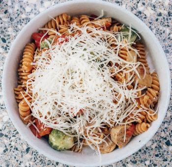 20 Minute Dinner: Chicken Sausage and Veggie Pasta