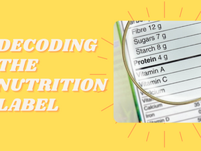Decoding the Nutrition Label