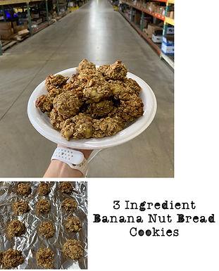 3 Ingredient Banana Nut Bread Cookies