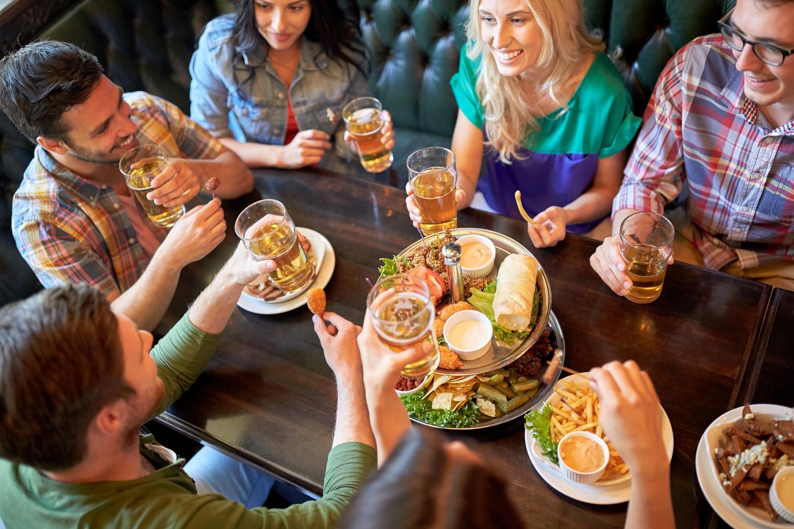 leisure, food, drinks, people and holida