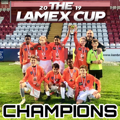 U12 Lamex Cup Champions
