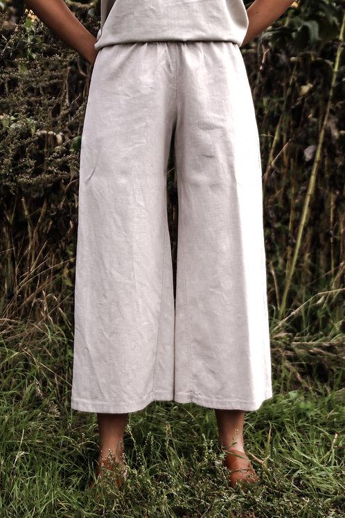 Lenvászon culottes
