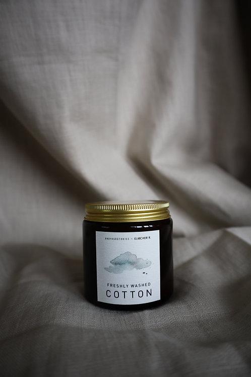 andyourstories x Elischer R 'freshly washed cotton' szójagyertya