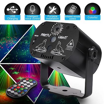 Mini RGB Disco Light LED Laser Stage Projector