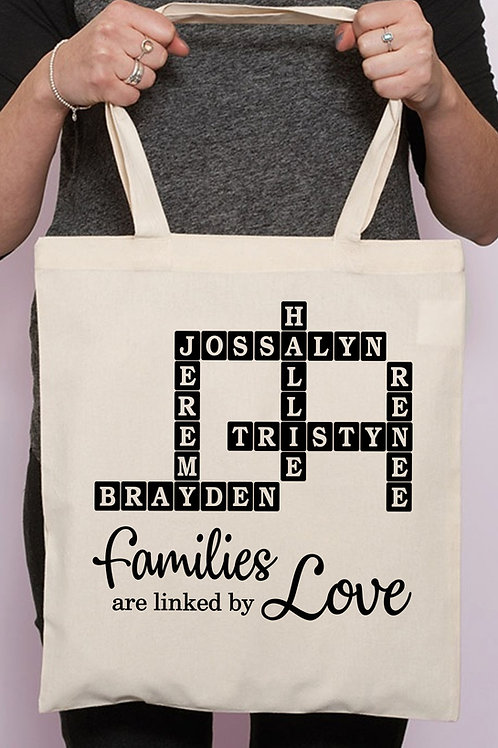 Personalized Family Tote Bag