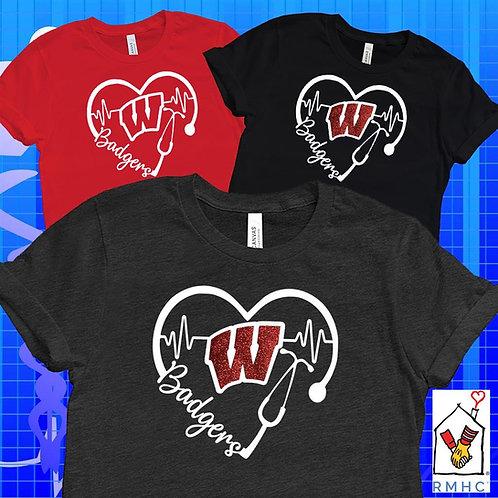 Badgers Stethoscope $5 FUNDRAISER Unisex T-Shirt