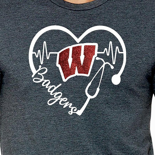 Badgers Stethoscope $5 FUNDRAISER Unisex Long Sleeve T-Shirt
