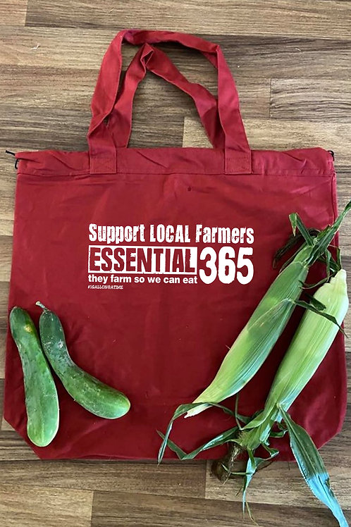 """""""SUPPORT LOCAL FARMERS"""" Extra Large Farmers Market Tote"""