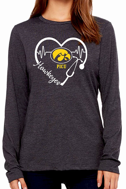 Iowa Hawkeyes $5 FUNDRAISER Stethoscope Heart Unisex LS