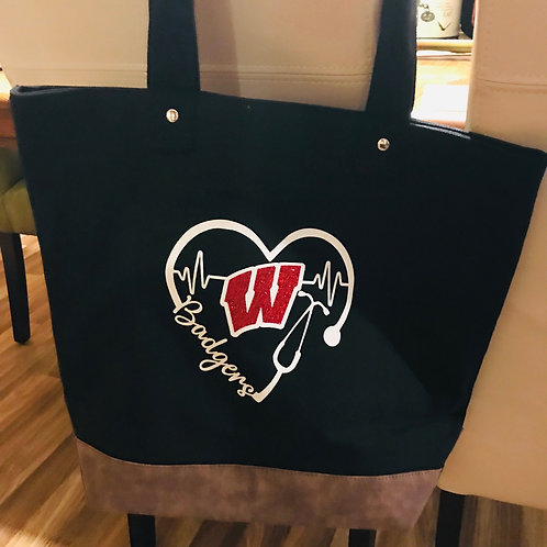 Badgers Canvas Resort Tote Bag