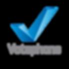 Logo - Votephone. Texto Gris sin fondo.p