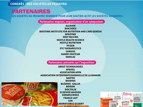 Pédiatries et Sponsors (McDonald's)