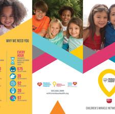 Brochure design for Nicklaus Children's Hospital Foundation