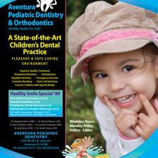 Pediatric dentist promotional flyer