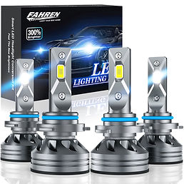 Fahren 9005/HB3 High Beam 9006/HB4 Low Beam LED Headlight Bulbs Combo