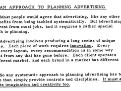 1974 JWT Planning And Strategy Guide