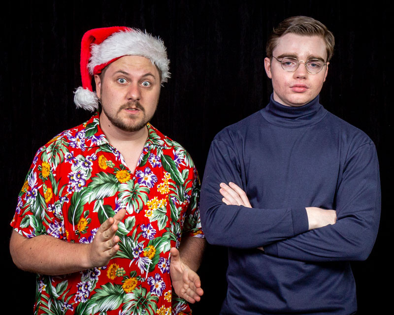 Actors Robert Karlen and Bertram O'Brien play clashing community theatre co-directors.