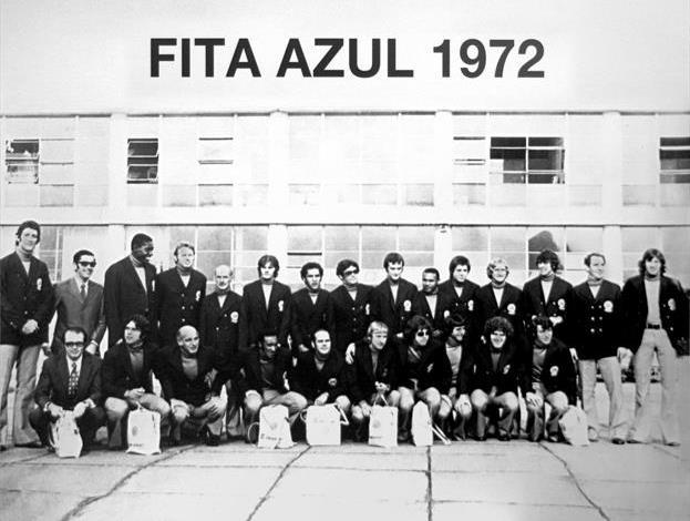 Time que ganhou a Fita Azul em 1972.  Créditos: Coritiba Football Club.