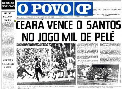 Jornal O Povo - 4 de dezembro de 1972. Site O Povo Online.