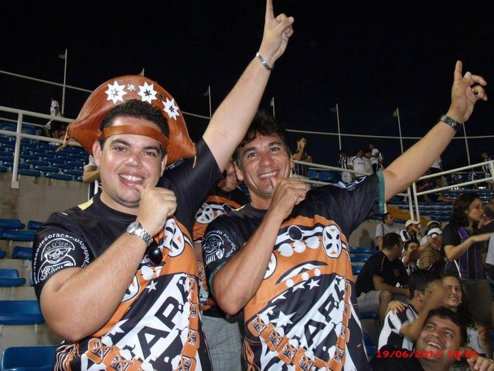 Marcio Verissimo e o ex-jogador Sérgio Alves. Foto: Blog Vozão de Coração