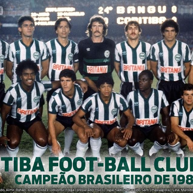 Time Campeão Brasileiro de 1985.  Créditos: Gazeta do Povo