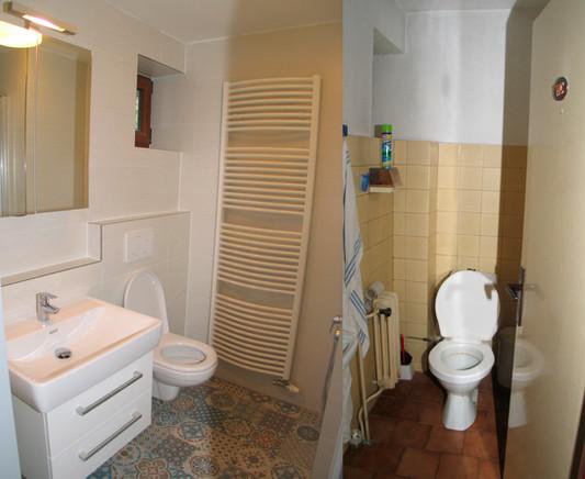 Přetvoření WC na společnou koupelnu se záchodem ve výrazném ale i vkusném obkladu ARTE.