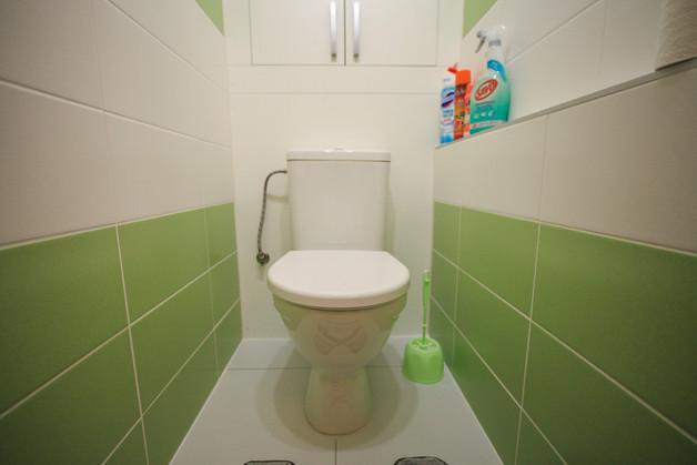 Celorozebíratelná stěna za wc z lamina