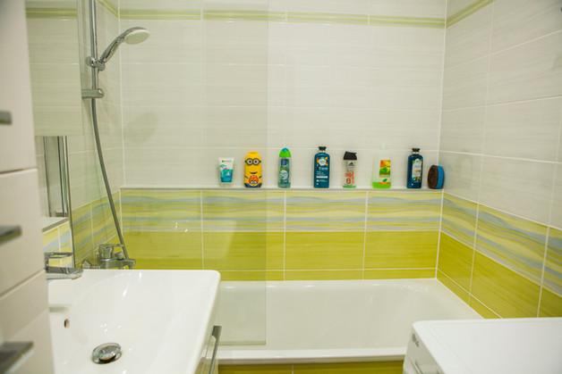 Koupelna s obkladem zelená Samba