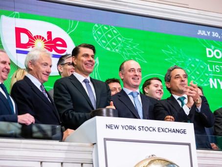 Entrée de Dole Plc en Bourse de NYC