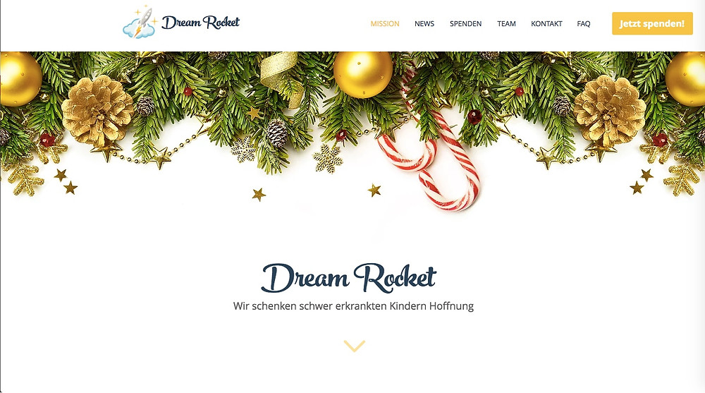Dream Rocket, Homepage neu