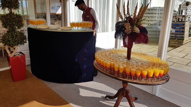 Welcome drinks set up by us to quench th