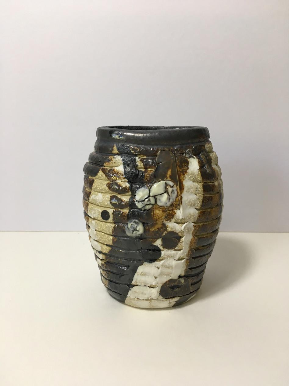 Glazed coil pot