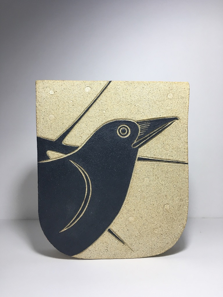 Crow flat pot