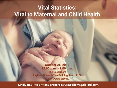 Vital Statistics: Vital to Maternal and Child Health