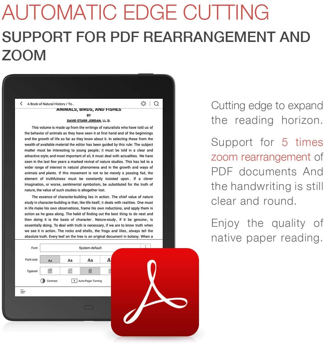 PDF reflow... epub..