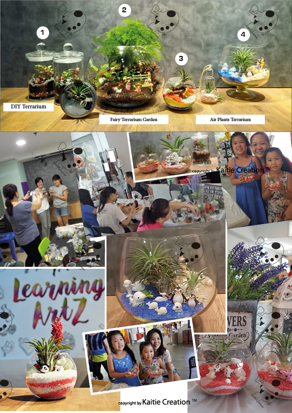 Singapore National Day Terrarium Workshop for kids
