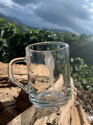 Taza en vidrio con logo