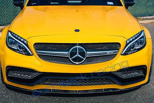 W205 C63/S AMG Coupe Carbon Fiber Front Lip Spoiler