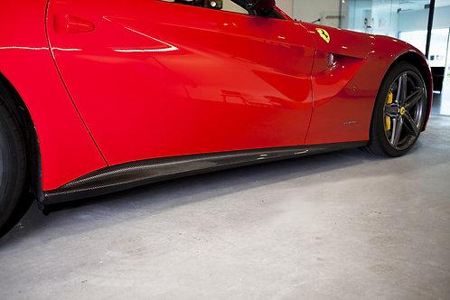 F12 Berlinetta Carbon Fiber Side Skirts