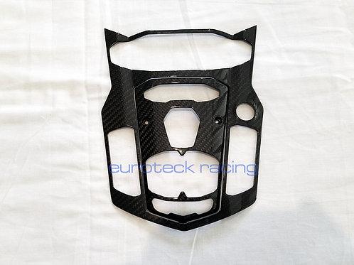 Aventador Carbon Fiber Center Console Trim Plate Bezel 2pc set