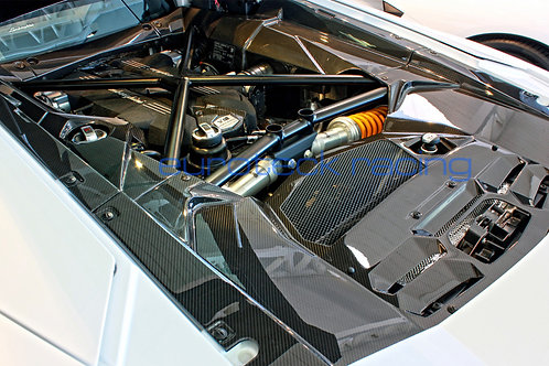 Aventador Carbon Fiber Engine Bay Cover Panels 5 pc. Kit