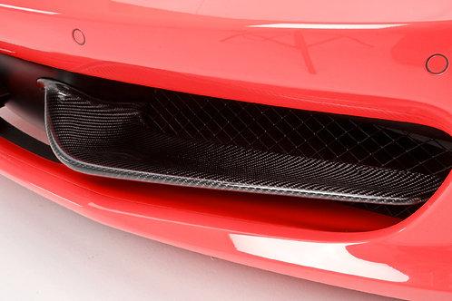 458 Italia Carbon Fiber Front Bumper Wings/Flaps