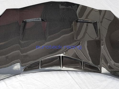 Aventador Carbon Fiber Front Hood Bonnet With Custom Intakes & Vents