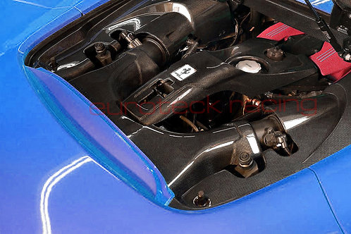 488 Spider Carbon Fiber Engine Bay 4pc Set, Side Panels, Center & Airbox