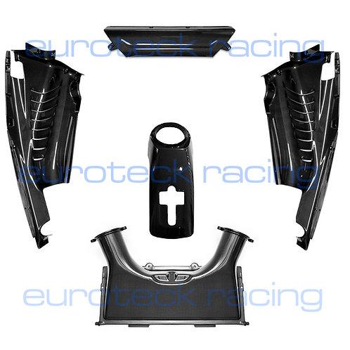 488 GTB Carbon Fiber Engine Bay 5pc Set Side Panels, Airbox, Center, etc