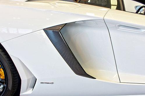 Aventador Carbon Fiber Side Intake Vents Trim