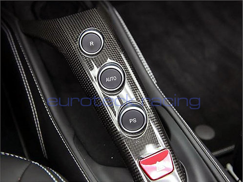 488 GTB / Spider Carbon Fiber Center Console Upper F1 Tunnel