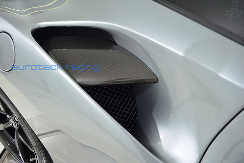 488 GTB / Spider Carbon Fiber side active air intake flaps / fins