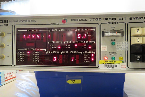 DSI DECOM SYSTEM INC, Model 7700 PCM BIT SYNCHRONIZER