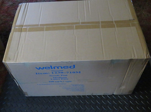 Disposable Scrub Pants Wears Welmed 1230-710 100 Each Case Small, Med, Large ,XL